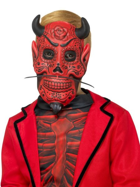 Day of the Dead Devil Mask  Childs